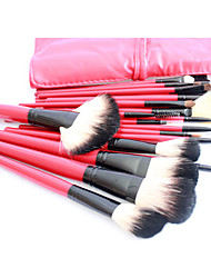Pro High Quality 22 PCs Natural Goat Hair Makeup Brush Set with Red Pouch