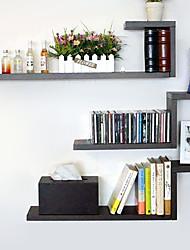 Modern Black Carbon Fiber Hanging Storage Shelf (3 Pieces)