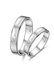 Men's/Unisex/Couples'/Women's Sterling Silver Ring Sterling Silver