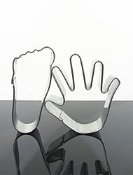Palm et pieds Forme Cookie Cutter Set 2-piece de grande taille, en acier inoxydable