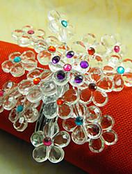 Hydrangea Acryl Perlen Serviettenring, 4,5 cm Dia4.2-Satz von 12