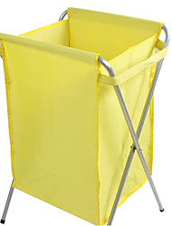 Contemporary Yellow Nonewoven Laundry Basket