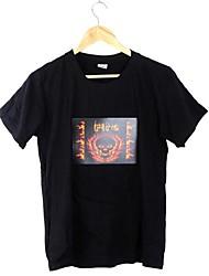 Musik aktiviert blinkende bunte Equalizer Feuer Muster-LED-T-Shirt