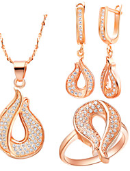 Jewelry Set Women's Wedding / Engagement / Special Occasion Jewelry Sets Gold / Alloy / Platinum Rhinestone Necklaces / EarringsAs the