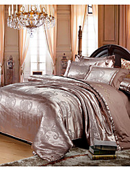 Ailianna 4 Pcs Satin Jacquard Set:Sheet*1,Quilt Cover*1,Pillow Case*2_13