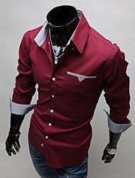 Jeams jiminy Check Applique Long Sleeve Shirt