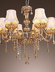 European Style Luxury 6 Light Chandelier With K9 Crystal
