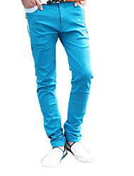 6 Color Candy Color Double-Breasted Side Zippers Leisure Foot Trousers