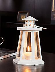 """8 """"Support H style européen classique lanterne Iron Candle"""