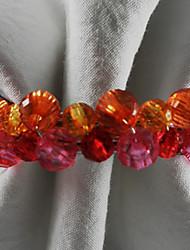Armband Acryl Perlen Serviettenring, 4,5 cm Dia4.2-Satz von 12
