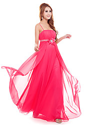 GIMFI Women's Elegant Strap Party Dress(Red)