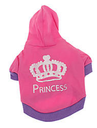Cool Crown Princess Pattern Coat with Hoodie for Pets Dogs (Assorted Sizes)