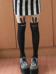 Little Bunny Black Sweet Lolita Stockings
