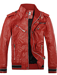 Men'S Red and Warm Leather Jacket