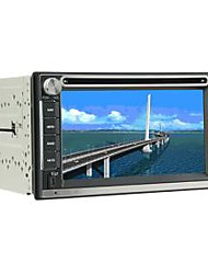 Universal 6,2 polegadas no painel do carro DVD Player Suporte GPS, BT, RDS, IPOD, FM, Touch Screen