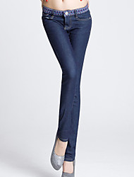 Folli Slim Stippen Splitsen Skinny Jeans