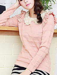 Folli Lovely Korean Ruffle CollarKnit Shirt