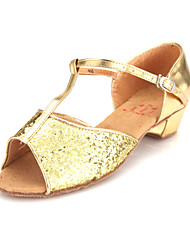 Leatherette/ Sparkling Glitter Upper Dance Shoes Ballroom Latin Shoes for Women and Kids More Colors