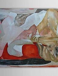 Peint à la main peinture à l'huile abstraite avec cadre étiré communication 1312-AB0025