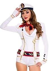 Cool Girl Branco UNIFORME pano Carnaval Naval