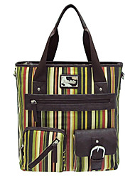 KATE&CO Casual Stripes Pattern Multifuction Canvas Bag