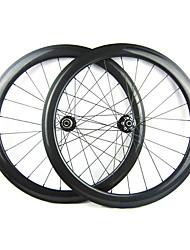 23mm Largeur 50mm 700C pleine de carbone tubulaires Cyclocross frein à disque de vélo / Essieux vélo