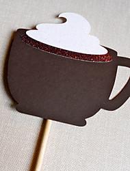 adereços fotografia de casamento decoração de fotos para / festa - uma chávena de café