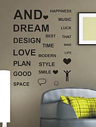 Palavras feliz Coisas Wall Stickers