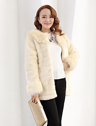 Long Sleeve Pillow Faux Fur Party/Casual Coat(More Colors)