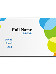 200pcs Personalized 2 Sides Printed Matte Film Round Pattern Business Card