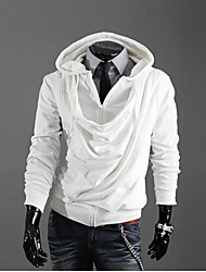 Tops Mode Zipper capuche KICAI homme (blanc)