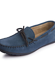 Men's Shoes Outdoor/Office & Career/Casual Leather/Suede Boat Shoes Blue