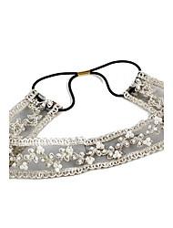 Branco doce da pérola de imitação Headbands para a Mulher (Branco) (1 Pc)