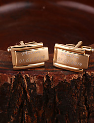 Gift Groomsman Personalized Gold Cufflinks