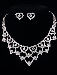 Heart Shaped Necklace&Earring Set