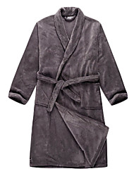 Bath Robe, Velour Gray Solid Colour Garment - 2 Size Available