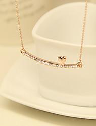 Donna cristallo Charming di amore del modello della Rosa Collana girocollo in oro