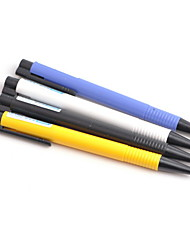 Solid Color Press Type Blue Ink Ballpoint Pen(Random Color)