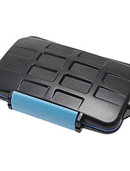 JJC MC-2 Anti-Schock-Wasserdicht Memory Card Case Hart Lagerung 4 CF 8 SD