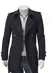 Men's Coats & Jackets , Cotton Blend/Wool Casual PPZ