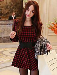 Xiuseliaoren clásico vestido ocasional del patrón del cheque