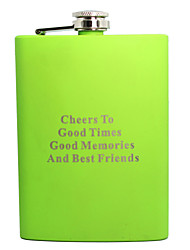 Personalized Father's Day Gift 8oz Metal Flask (Green,Blue,Dark Green)
