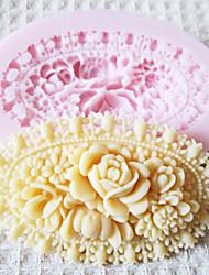 3d flor molde ferramentas artesanais açúcar moldes fondant molde de silicone de chocolate para bolos