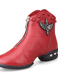 Women's Special Leather Upper Rivet Decor Ballroom Boots Dance Shoes(More Colors)
