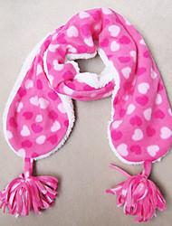 Mädchen Soft Herz Muster Coral Fleece Schal