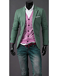 Casual adelgaza Blazer ZBN Hombres (verde claro)