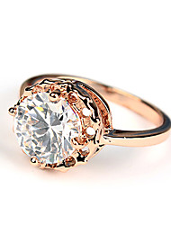 ME Big Zircon Hollow Ring(TJ00019)