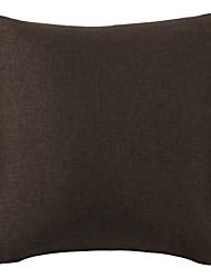 "18 ""Brown solide polyester coussin décoratif avec insert"