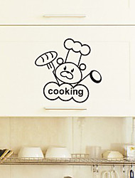 Cartoon Chef Bear Wall Stickers