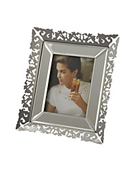 "10""Silver Floral Frame Family Style Rectangle Picture Frame"
